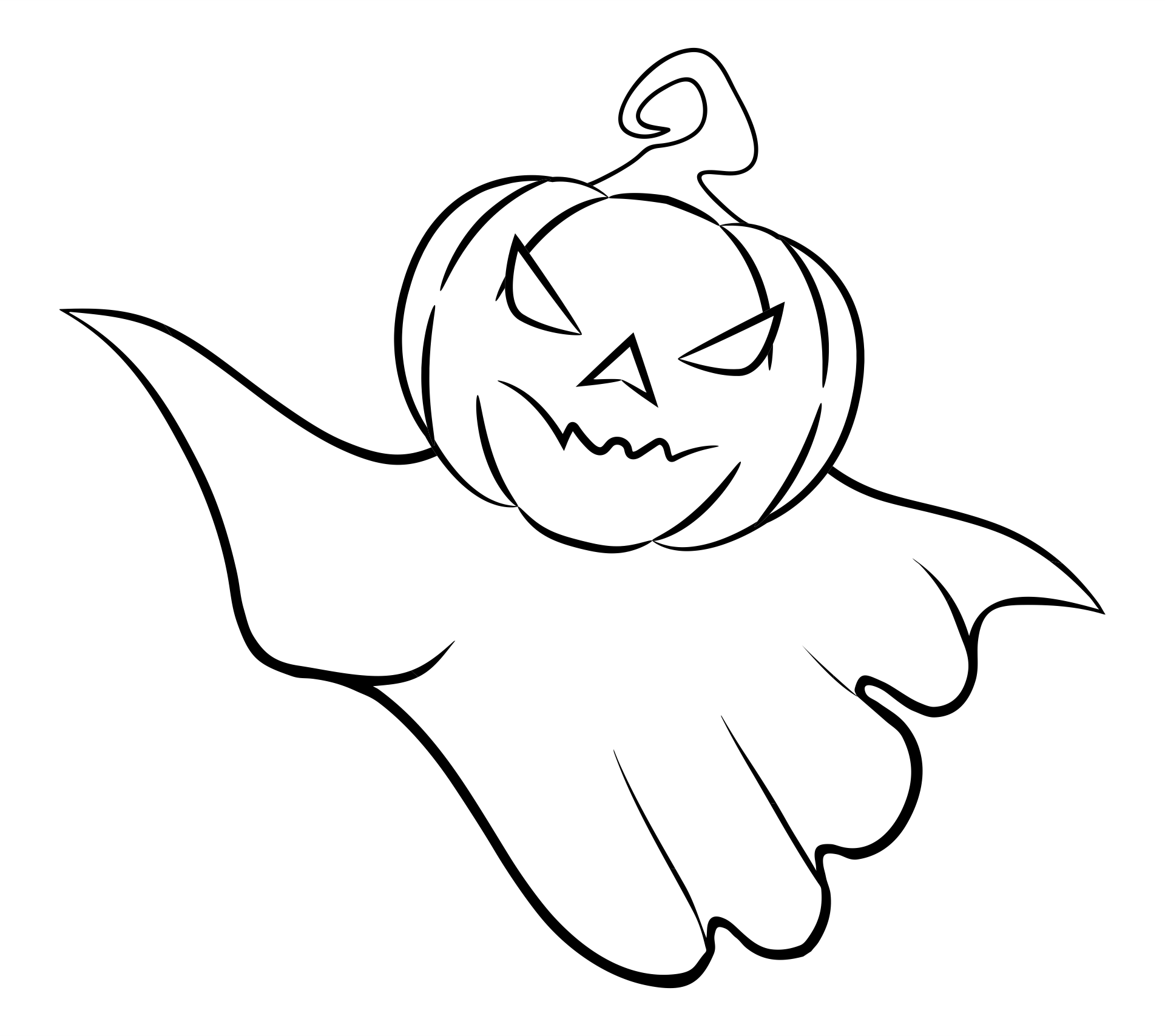 Pumpkin Head Halloween Coloring Pages