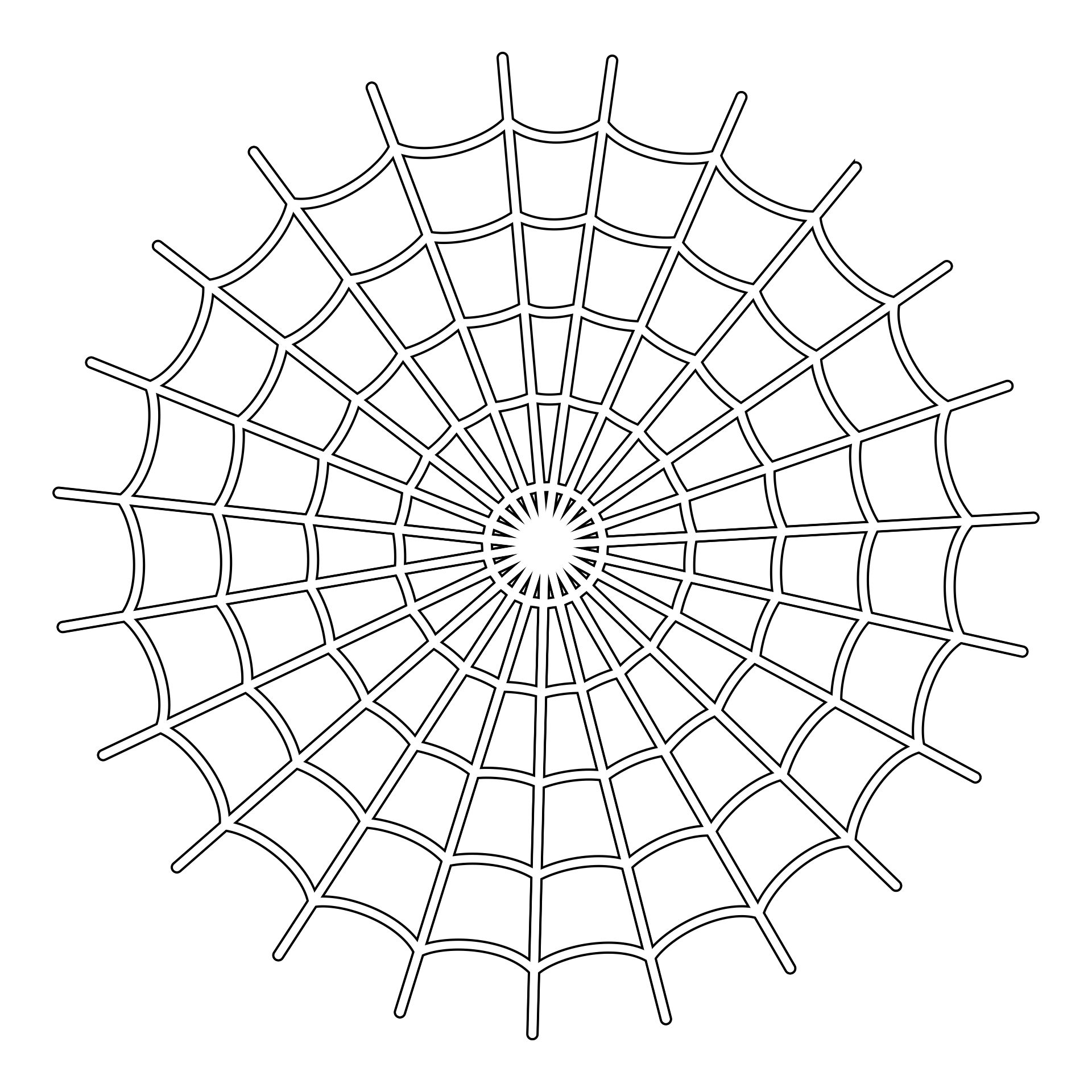 Spider Web Stencil Printable