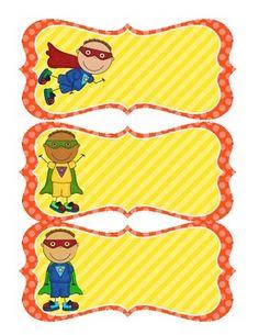 6 Images of Free Printable Superhero Name Tag Labels