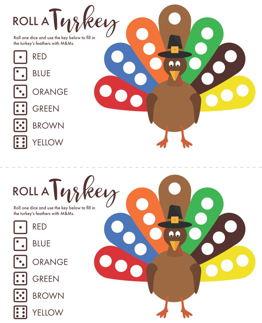 4 Images of Printable Thanksgiving Games