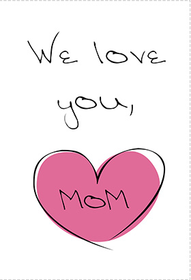 7 Images of We Love You Printable