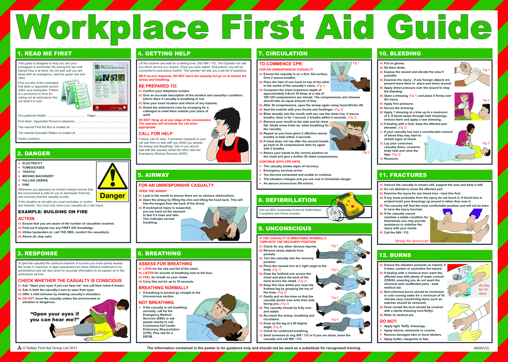 6 Images of First Aid Guide Printable