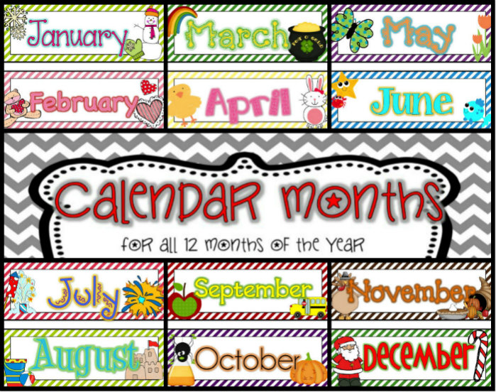 8 Images of Free Printable Calendar Headings