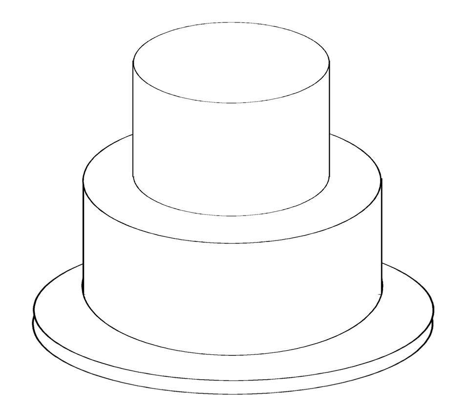 7 best images of printable template birthday cake