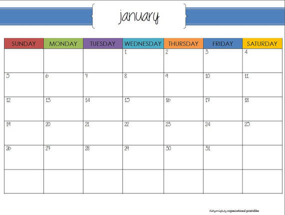 Monthly Organizing Calendar : Best images of printable organizer calendar