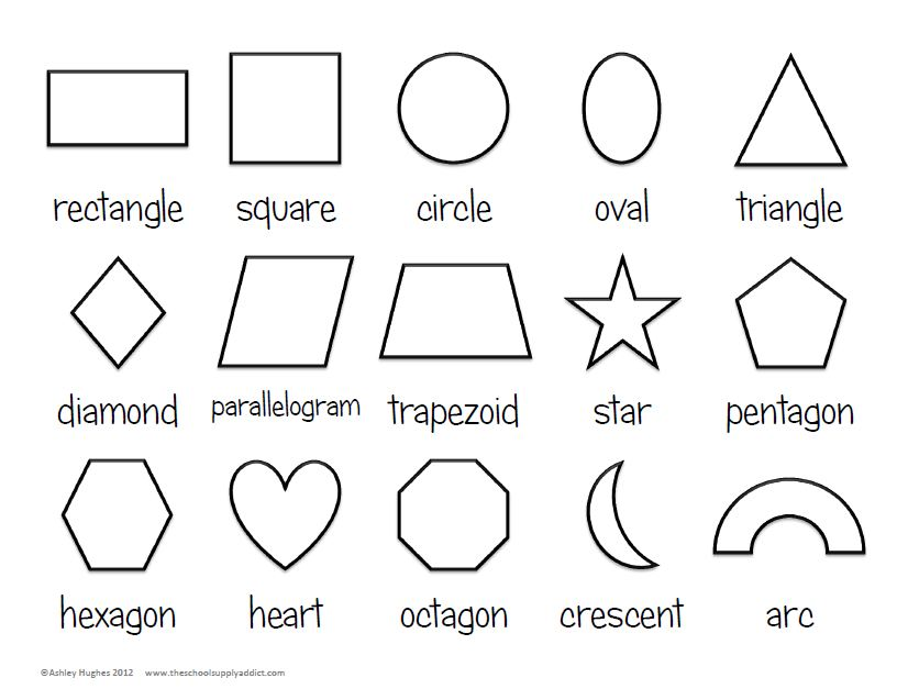 4 Best Images Of Basic Shapes Outline Printable