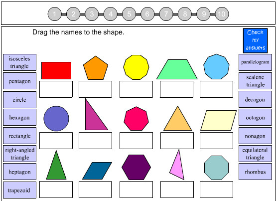 2d Shape Revision Worksheets - what s new maths worksheets ...