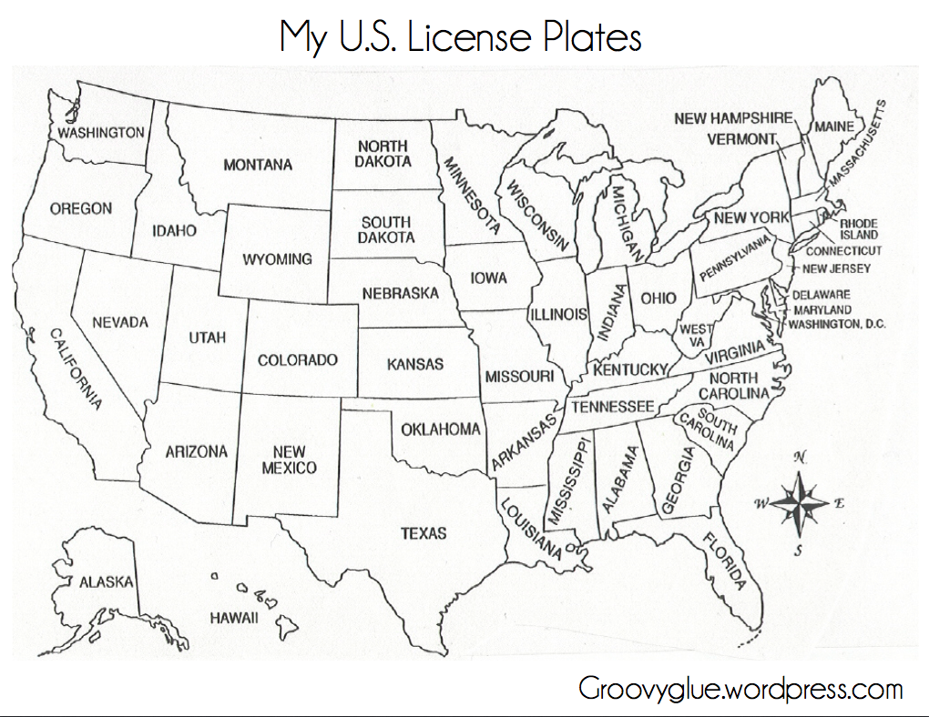8 Best Images Of Printable 50 States License Plate State