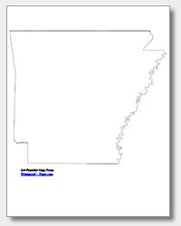 4 Images of Printable Arkansas Outline Map
