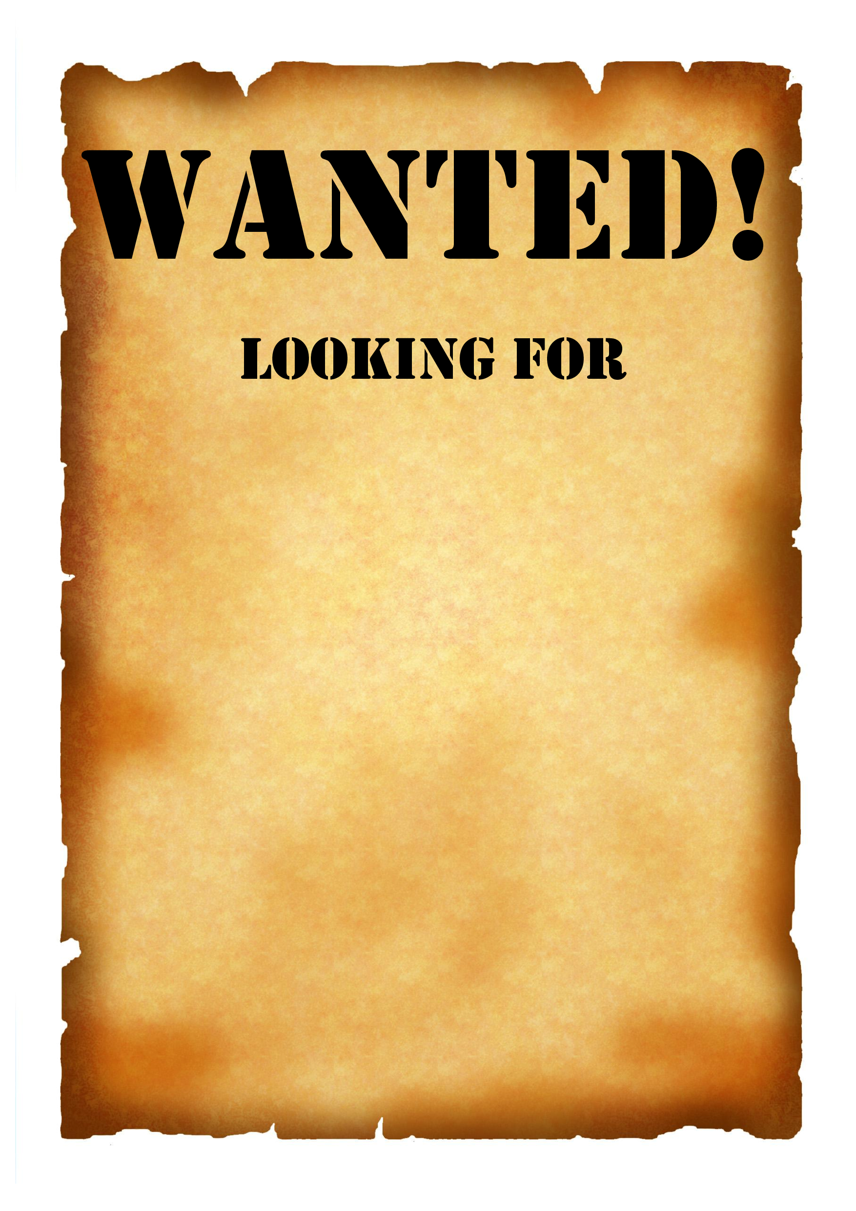 6 Images of Printable Wanted Poster Template
