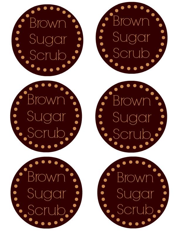 Brown Sugar Scrub Printable Labels