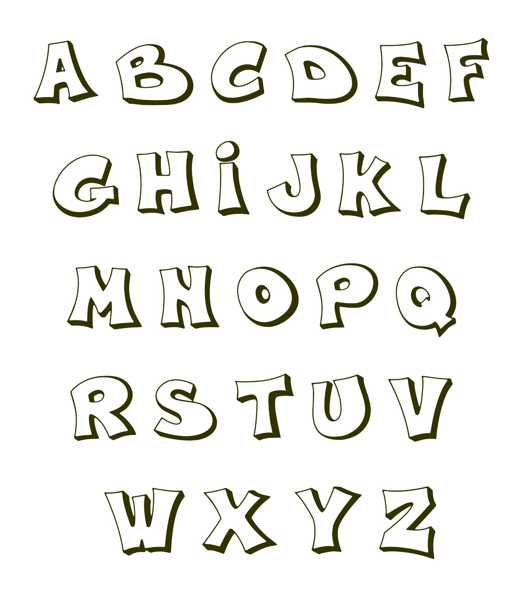 Bubble Letters Alphabet