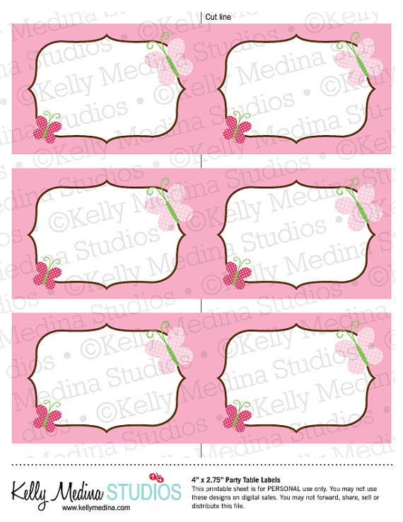 8 Images of Butterfly Labels Printable