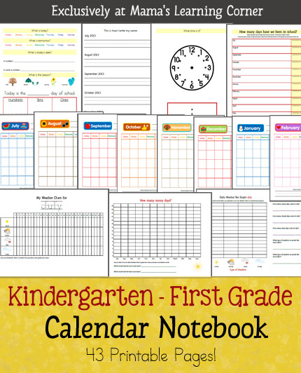 Kindergarten Calendar Notebook : Best images of kindergarten printable calendar month by