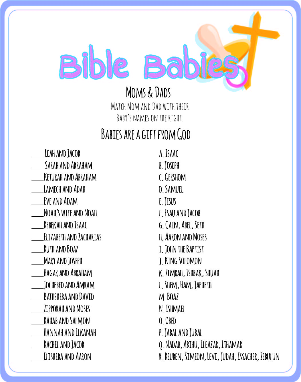 game christian baby shower games and baby shower game ideas