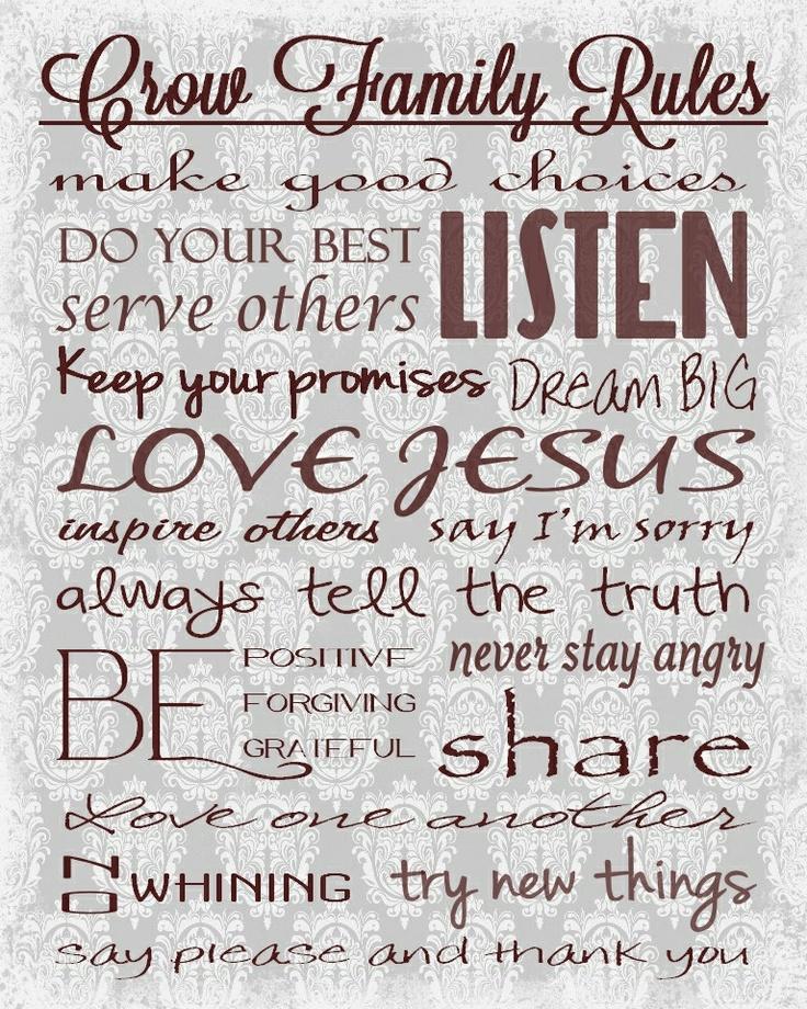 christian rules