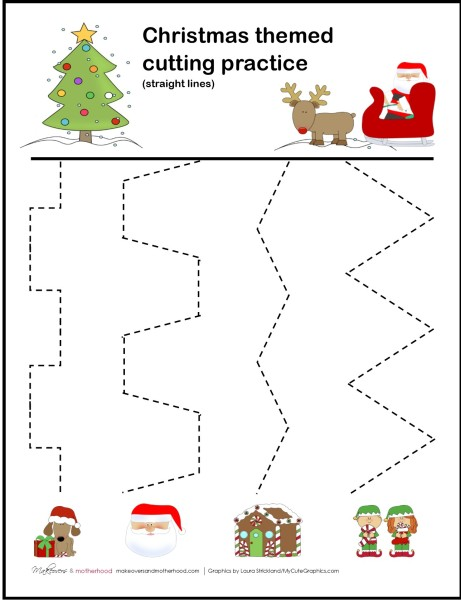 Number Names Worksheets » Christmas Preschool Worksheets - Free ...