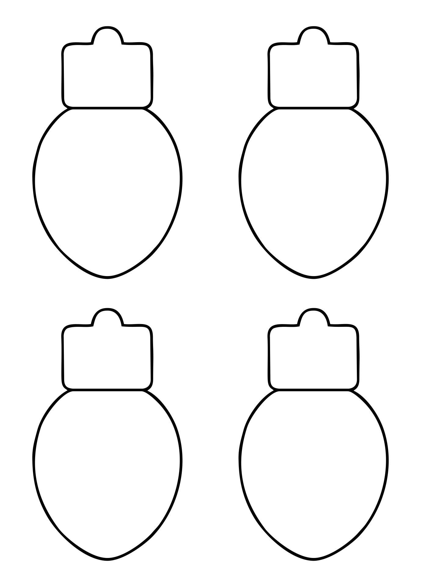 Christmas Light Bulb Template Printable