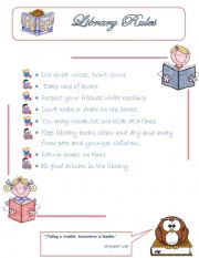 6 Images of Library Rules Printable