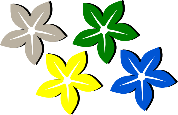 Colored Flower Clip Art