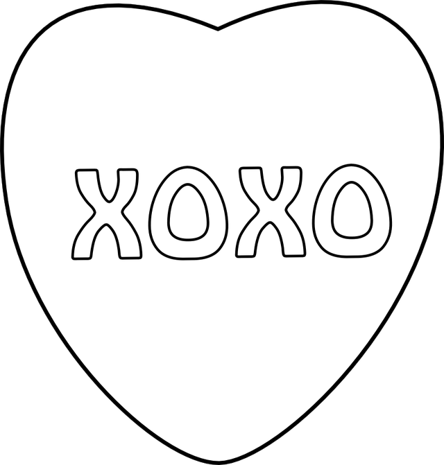 candy heart coloring pages - 8 best images of printable conversation hearts blank