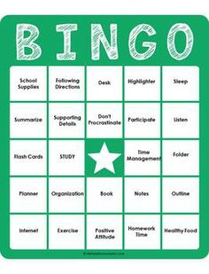 Best Images of Printable Study Skills Game - Coping Skills Bingo ...