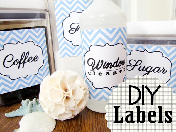 DIY Pantry Labels Printable Free