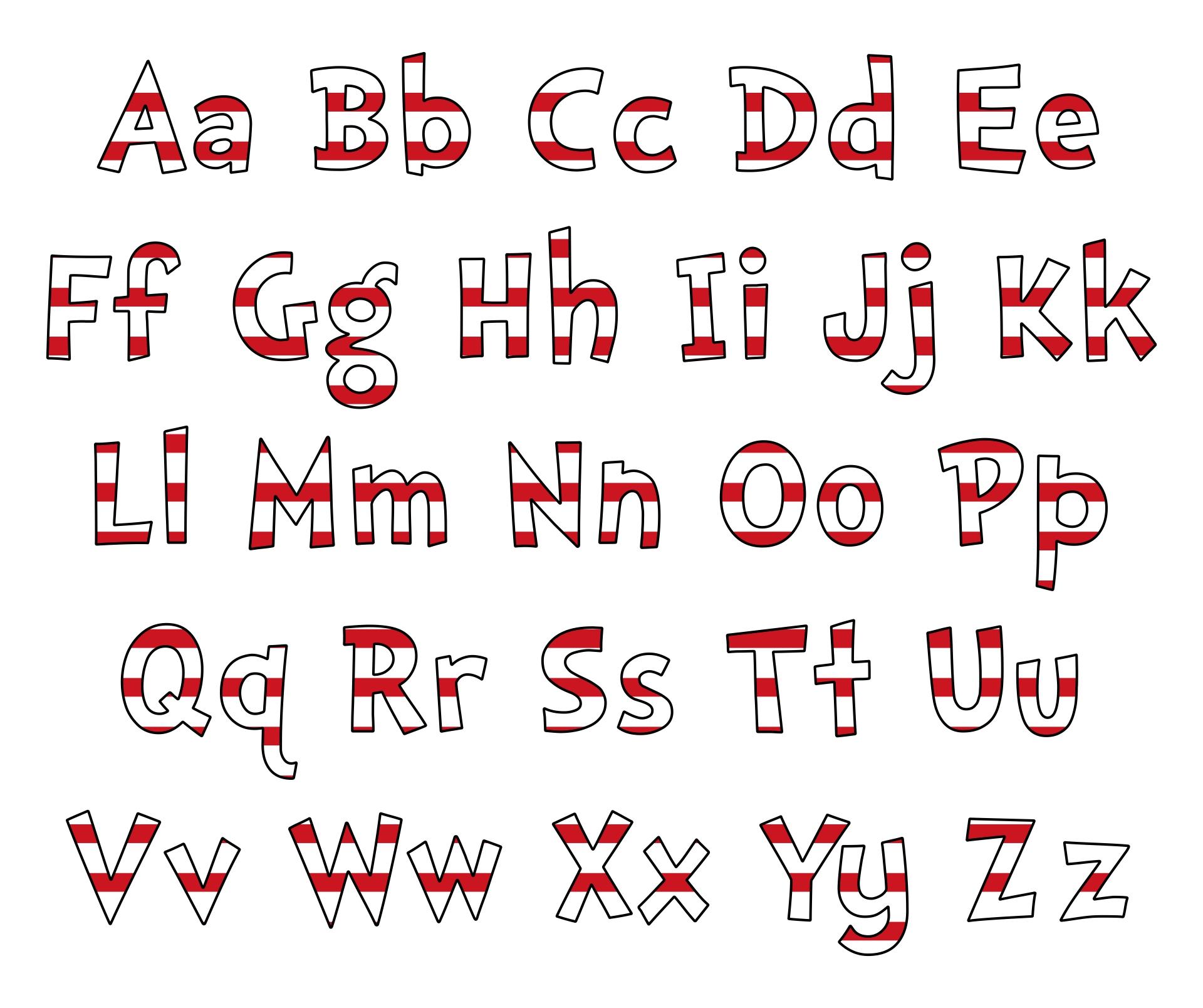 Dr. Seuss Printable Alphabet Letters