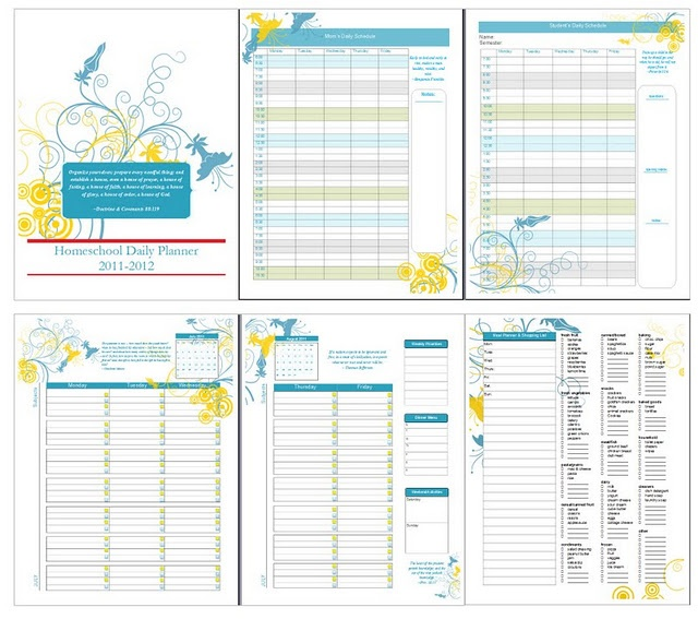 7 Images of Free Printable Homeschool Student Planner