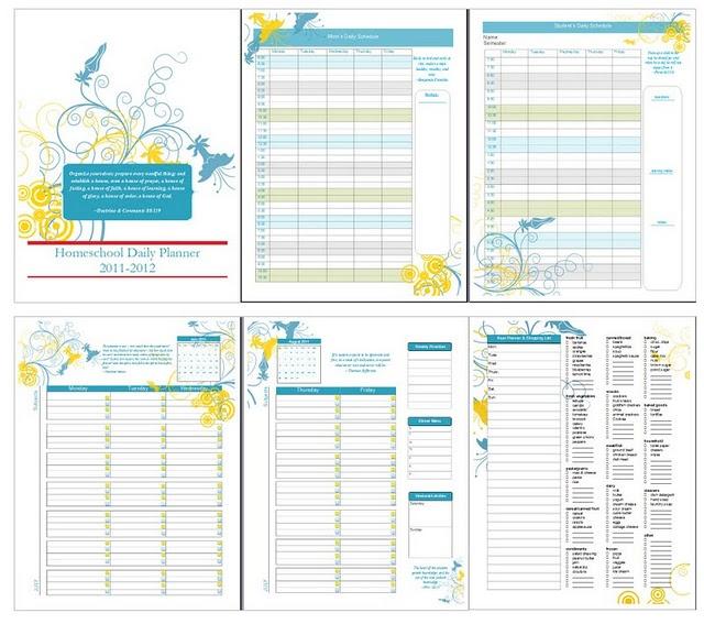 4 Images of Free Printable Homeschool Planner