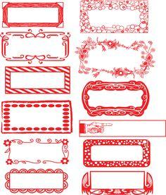 Free Printable Christmas Label Borders