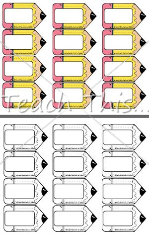 7 Images of Pencil Tag Printable Free