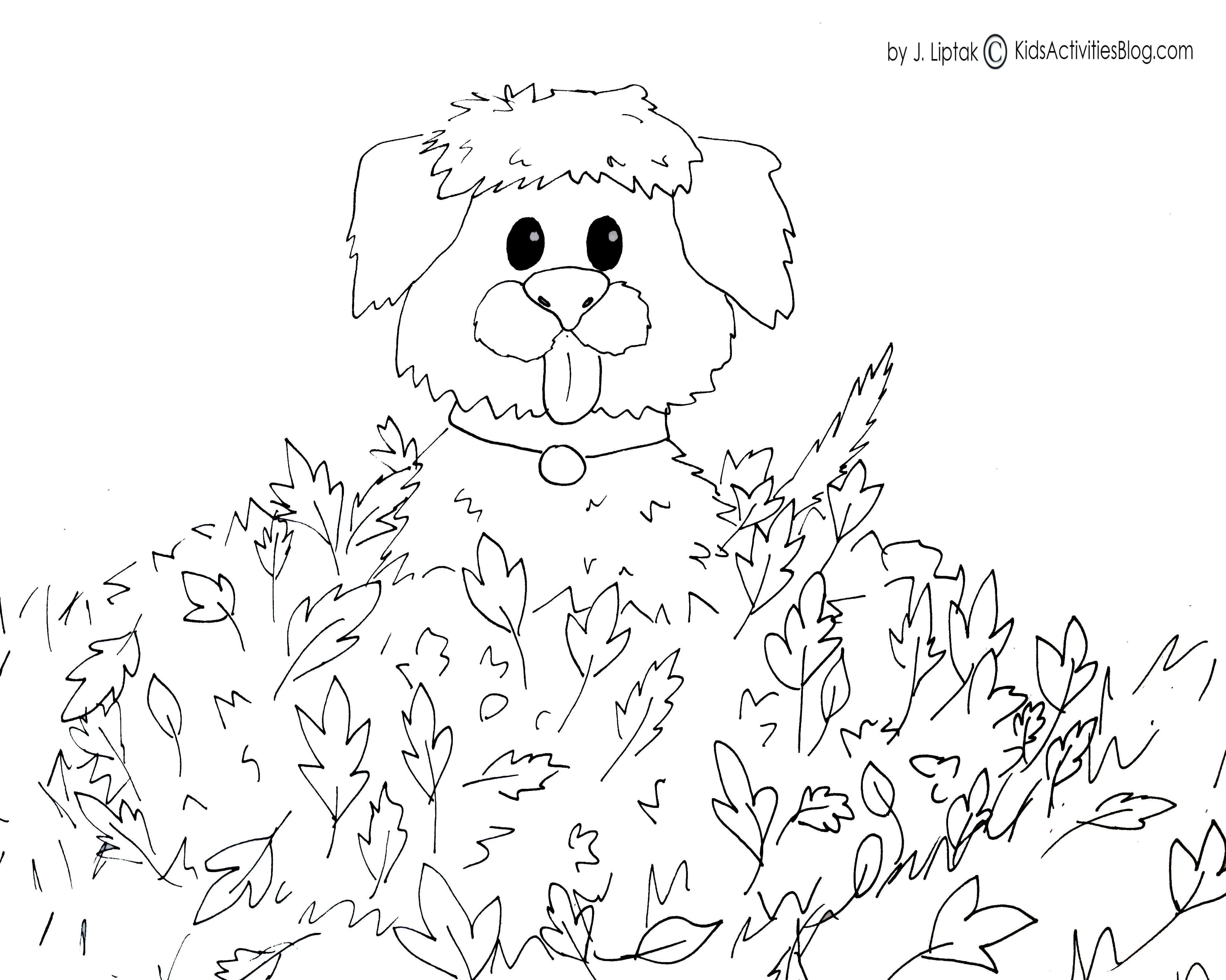 autumn coloring pages free printable - 8 best images of fall free math printables free