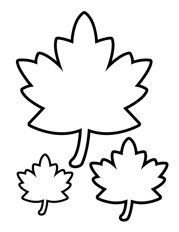 coloring pages leaves fall - 5 best images of printable autumn leaves fall leaves