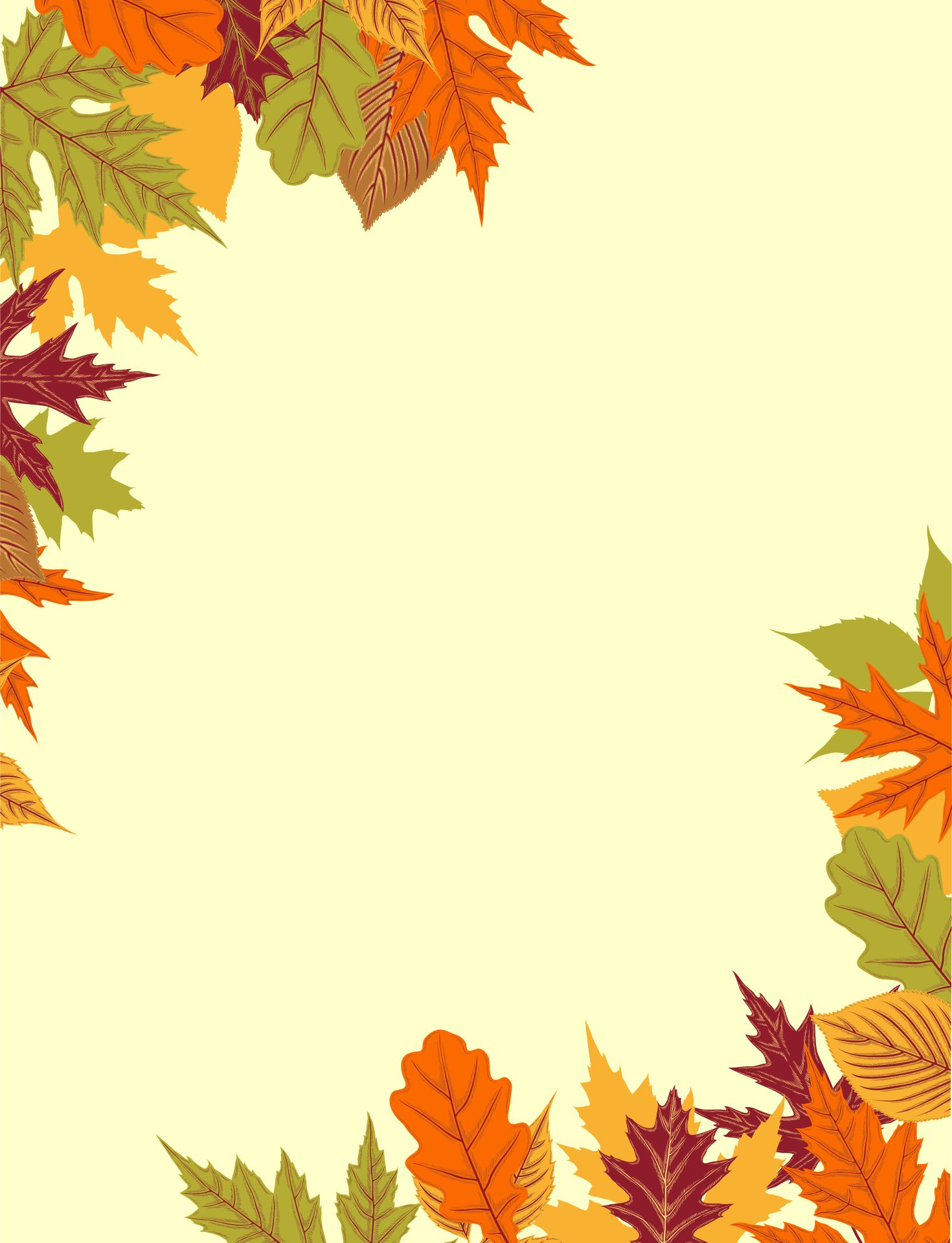 Printable Fall Stationery Paper