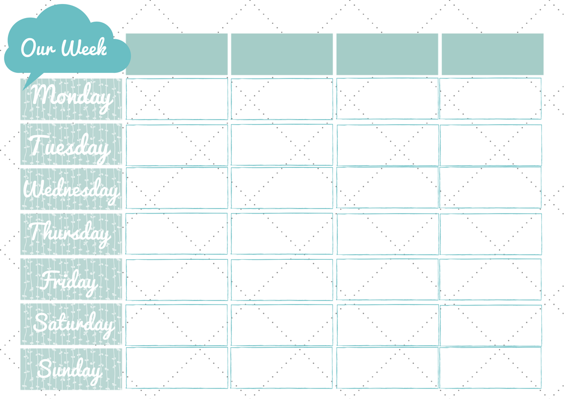 5 best images of free printable family planner dollar for Kids weekly schedule template