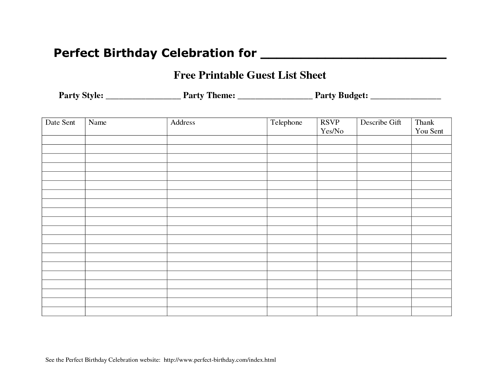 excel template for wedding guest list