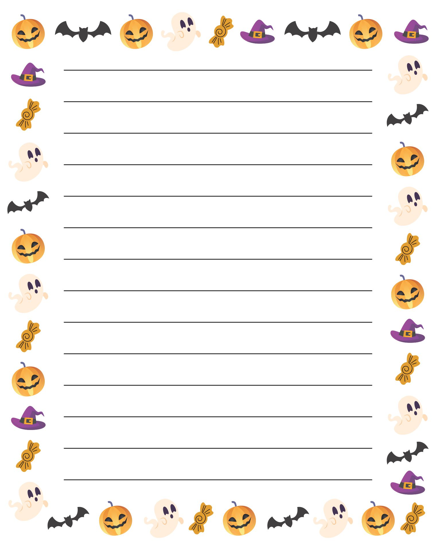 8 Images of Free Printable Halloween Paper