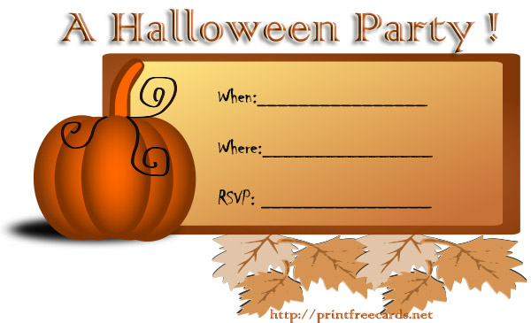 6 best images of fall printable party invitations fall for Free halloween invitation templates