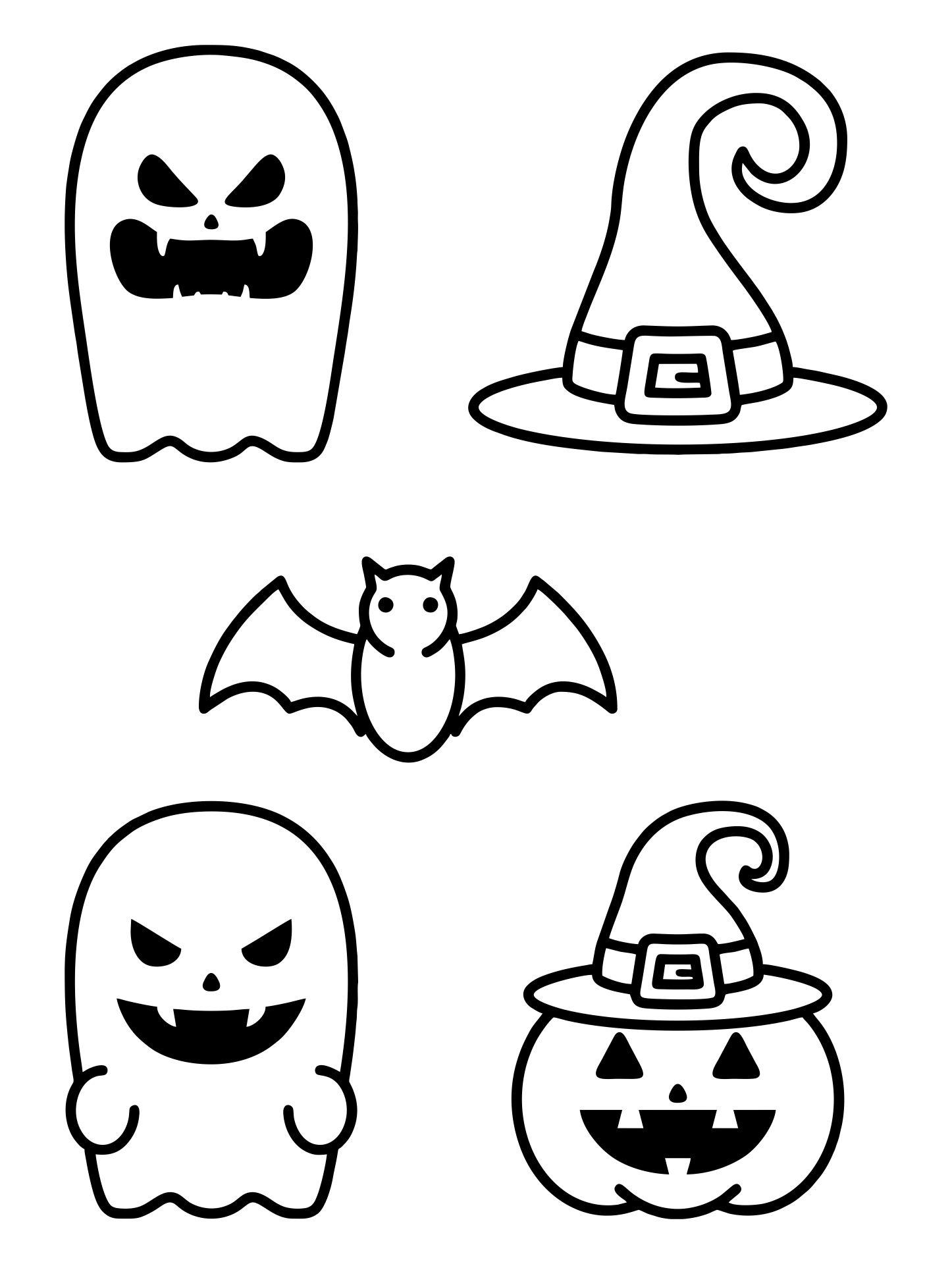 Printable Halloween Stencils for Kids