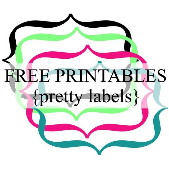 Free Printable Label Borders