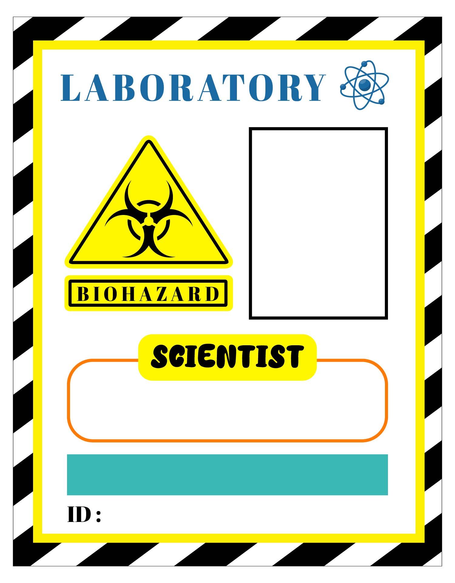 7 Images of Mad Scientist Badge Printables