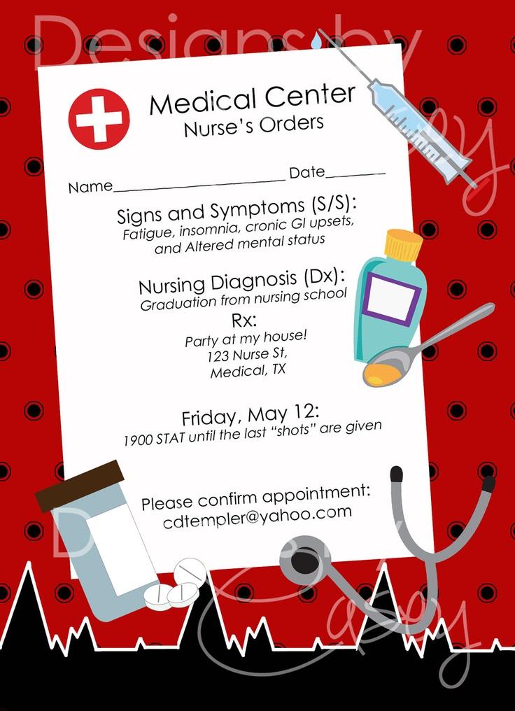 graduation party invitations templates free - 6 best images of free printable nursing invitations