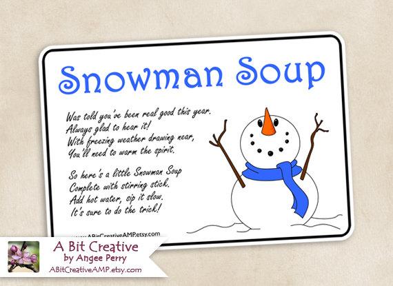 of Snowman Soup Printable - Free Printable Snowman Soup Poem, Free ...