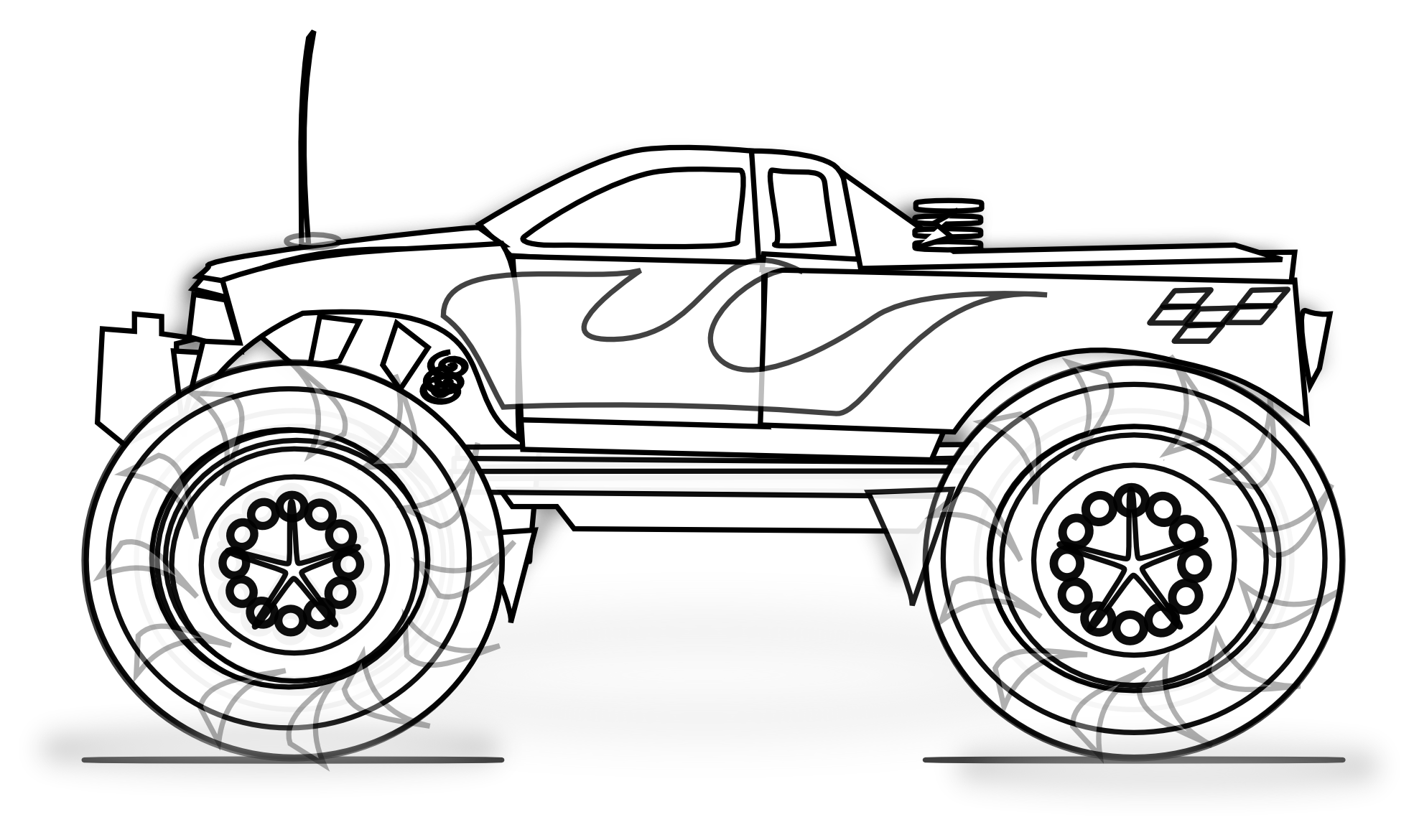 4 Images of Cars Coloring Pages Free Printable