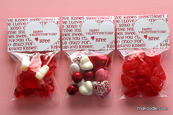 5 Images of Valentine's Treat Bag Topper Printable