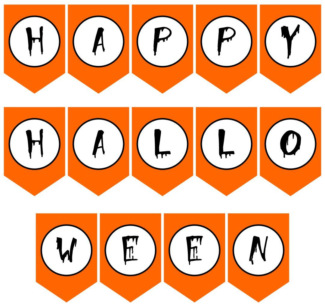 Free Printable Vintage Halloween Banner