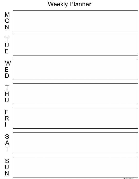 Weekly Calendar Organizer Printable : Best images of day planner printable daily