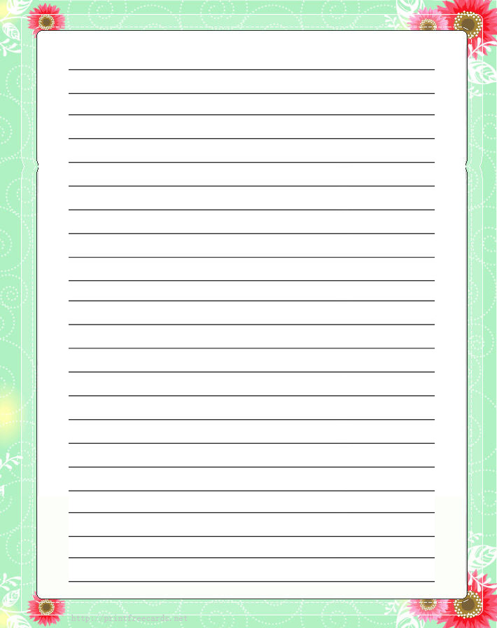 Writing paper printable – Border Paper Template