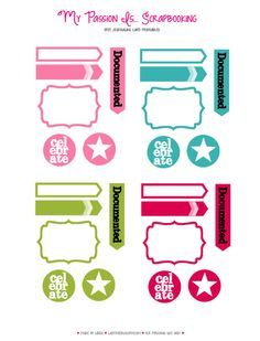 Free Project Life Card Embellishments